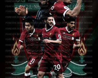 Liverpool fc 2017/2018 own design poster A3
