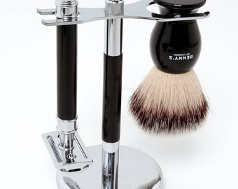 SHAVING STAND - From Benny's of London - Men's Shave Stand For Your Shaving Brush and Safety Razor