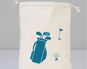 Personalized Golf Tees, Golf Gifts For Men, Golf Gifts for Women, Golf Lover Gift, Golf Gifts, Personalized Bag, Cotton Bag Drawstring