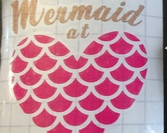 Mermaid at Heart Decal