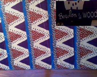 """10-012 - WAX  """"WOODIN"""" - Collection """"BOGOLAN"""" Cote d'Ivoire"""