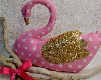 Plush Toy Swan nursery decor kids baby birth gift