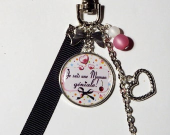 """Door keys, bag charm MOM """"I'm a great Mom"""" / gift/mothers day"""