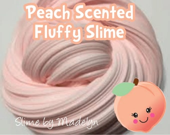 Peach scented fluffy slime