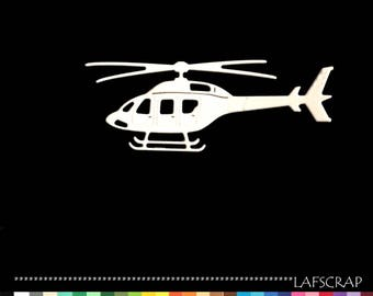 Cut scrapbooking helicopter vehicle first cut paper embellishment die cut creation