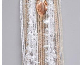 Dream catcher leaf copper white/beige tones