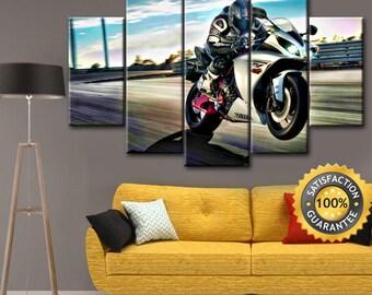 Yamaha Bike, Motorcycle canvas, Yamaha Bike canvas, Yamaha canvas, Motorcycle Yamaha canvas, Motorcycle Yamaha, Yamaha Powersports, Wall art