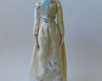 Amanda        Fine art doll OOAK costumed air-dry clay collectible