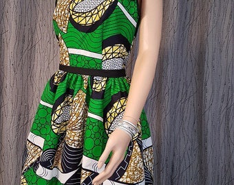 1 wax cotton dress. HAND MADE