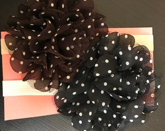 Baby girl flower headbands set of 2