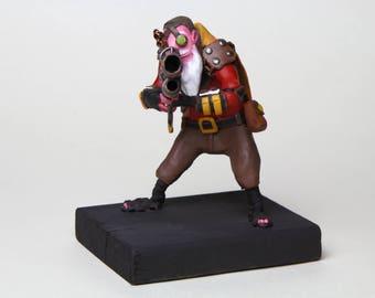 Handmade Sniper Figurine