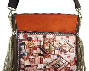 Orange cross body bag, Handbags, Boho bag, Sac a main, Gifts for women, Hippie bag, 40th birthday gift