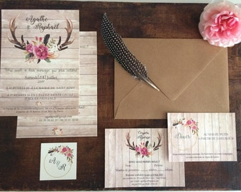 Announcement /invitation / country wedding