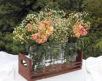 Rustic Centerpiece For Wedding - Wood - Rustic Wedding - Table Decoration
