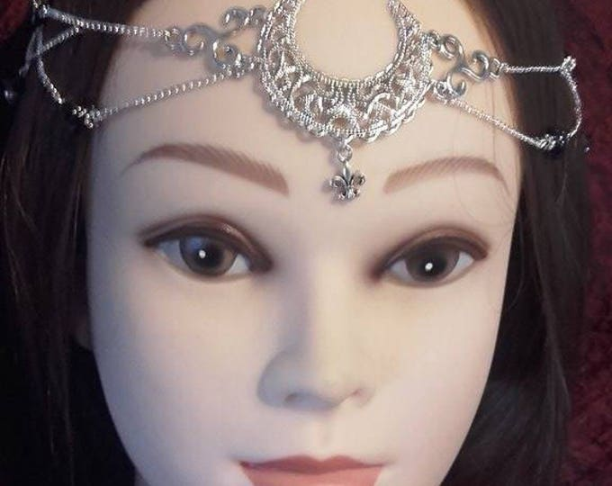 Hecate Tiara - triskel wicca witch gothic headpiece moon