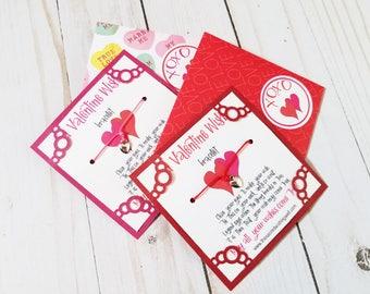valentines day bracelet valentines gift heart wish bracelet gifts for teen girls