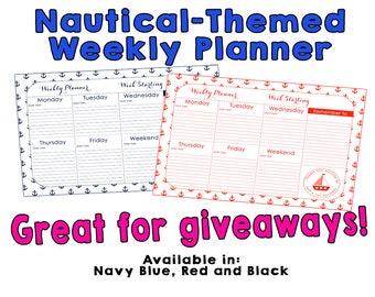 Nautical Weekly Planner