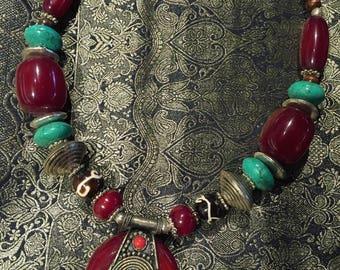 Necklace ethnic Medallion