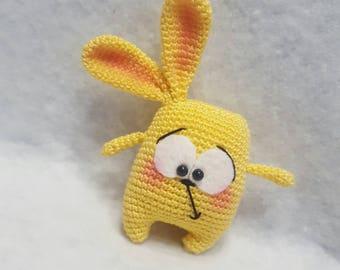 "Amigurumi Bunny cotton key ""CHUCK"" flexible color a request/Keychain amigurumi cotton bunny ""CHUCK"" colors on request"