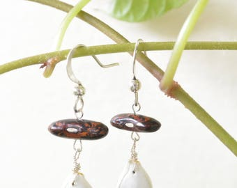 Earrings organic seeds