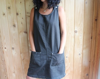 black coverall dress