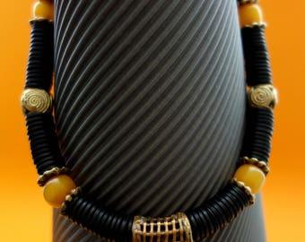 Kopal, bakelite and brass from Africa