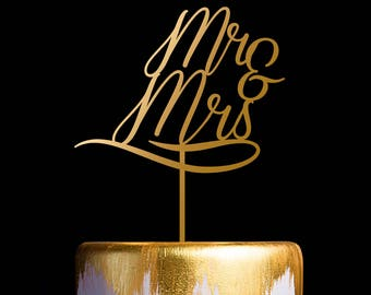 Mr and Mrs Cake Topper, Wedding Cake Topper