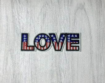 love word patch, iron on patch