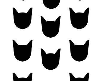 Wall decals sticker decor kids print A3 cat ref 228