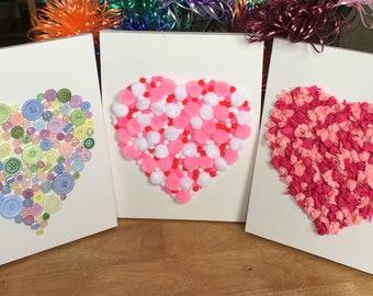 Handmade Heart Filled Canvas