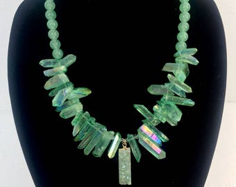 Fresh Mint Crystalline Necklace