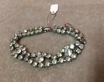 Vintage faux diamond bracelet