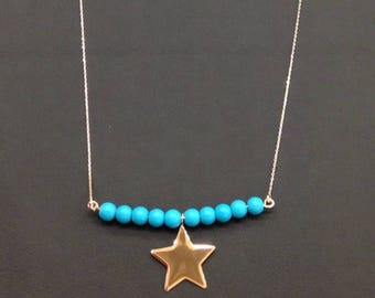 14K Gold  Star Necklace Available in 14k Gold, White Gold or Rose Gold