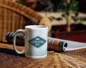 Revelstoke Mug, Ski Gifts, Snowboarding Gift, Revelstoke, Ski Area, Skier Gifts, Ski Mug, Winter Mugs, Mugs for Men, Mugs for Women, Coffee