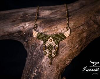 Macrame necklace necklace, macrame, hand made jewelry, boho, hippie, Festival