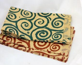 set of 10 kraft Brown decor sachets spiral