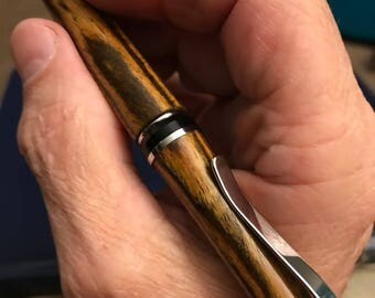 Turned Wood Cigar-style Ballpoint Pens