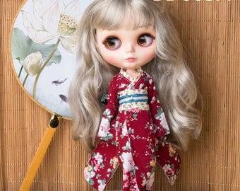 BD003 Lovely Kimono for Blythe,1/6doll,licca,momoko,pullip 4 colour