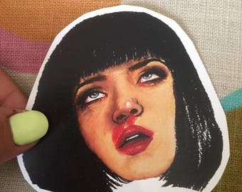 Uma Thurman Mia Wallace Pulp Fiction Sticker Or Magnet