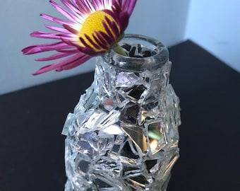 Small mirror bud vase