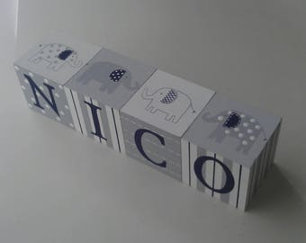 Handpainted and Personalized Baby Name Blocks