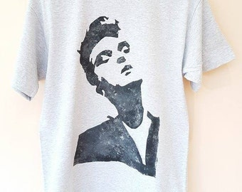 Hand-Painted Morrissey The Smiths T-Shirt Large