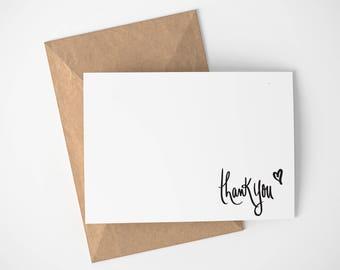 Minimalist Thank You Card | Wedding - Thank you card - Simple - Thanks - Thank You - Greeting Card