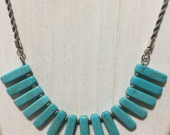 Turquoise Bib Necklace