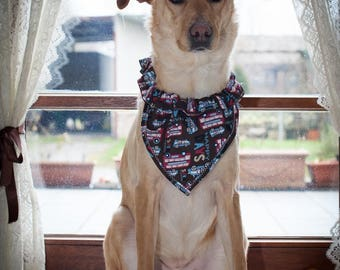 bandana dog T4 patterns with cars