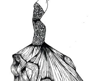 Fashion Illustration Prints and Original Art Work