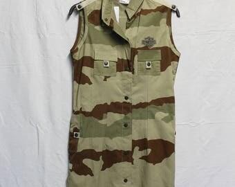 Harley Davidson military print shift dress