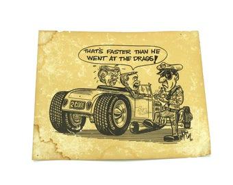 Original 1988 Hot Rod Print by legendary artist Bob McCoy!  The Real McCoy.