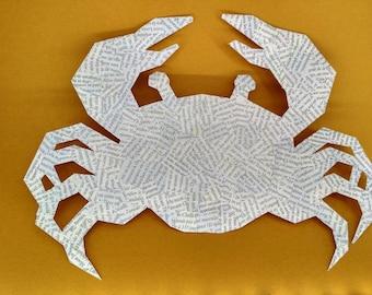 Crab - Paper collage geometric illustration Board