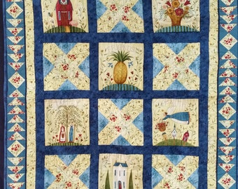 Houses and pineapple Quilt